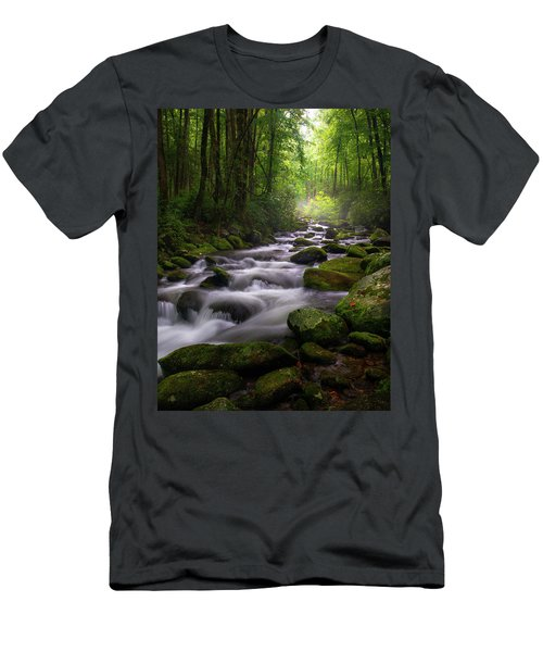 Great Smoky Mountains Roaring Fork Gatlinburg Tennessee Men's T-Shirt (Athletic Fit)