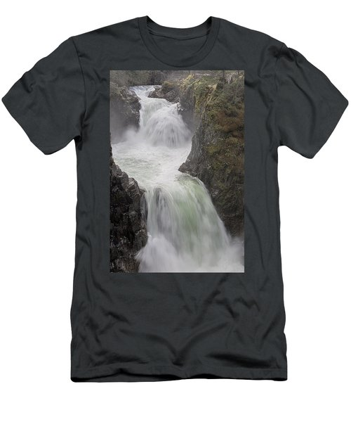 Men's T-Shirt (Slim Fit) featuring the photograph Roaring River by Randy Hall