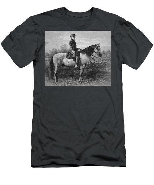 Robert E Lee On His Horse Traveler Men's T-Shirt (Athletic Fit)