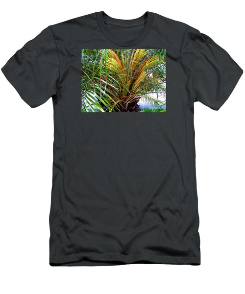 Men's T-Shirt (Slim Fit) featuring the photograph Robillini Palm In Bloom by Merton Allen