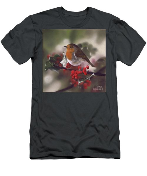 Robin And Berries Men's T-Shirt (Athletic Fit)