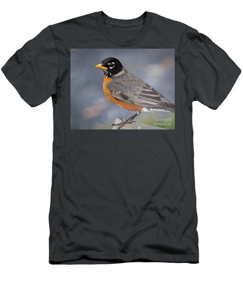 Men's T-Shirt (Slim Fit) featuring the photograph Robin by Douglas Stucky