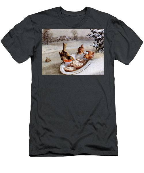 Robins And Wrens  Winter Breakfast Men's T-Shirt (Athletic Fit)