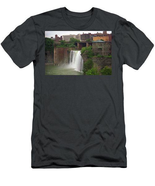 Men's T-Shirt (Slim Fit) featuring the photograph Rochester, New York - High Falls 2 by Frank Romeo