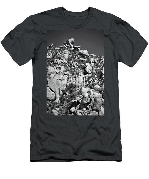 Rock Face Sandia Mountain Men's T-Shirt (Athletic Fit)