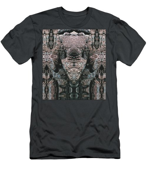 Men's T-Shirt (Slim Fit) featuring the digital art Rock Gods Elephant Stonemen Of Ogunquit by Nancy Griswold