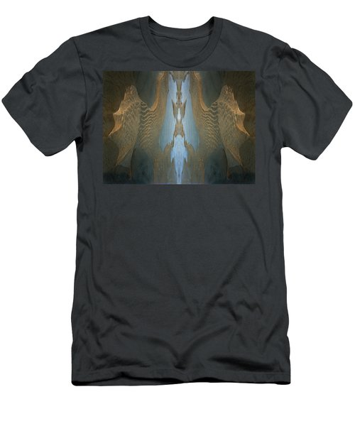 Men's T-Shirt (Slim Fit) featuring the photograph Rock Gods Seabird Of Old Orchard by Nancy Griswold