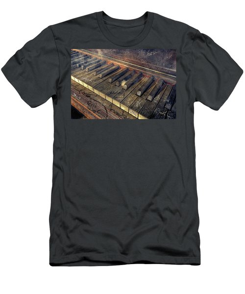 Rock Piano Fantasy Men's T-Shirt (Slim Fit) by Mal Bray