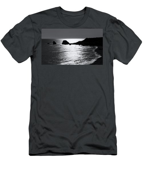 Rock Silhouette Men's T-Shirt (Slim Fit) by Mike Santis