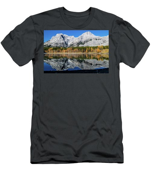 Rockies From Wedge Pond Under Late Fall Colours, Spray Valley Pr Men's T-Shirt (Athletic Fit)