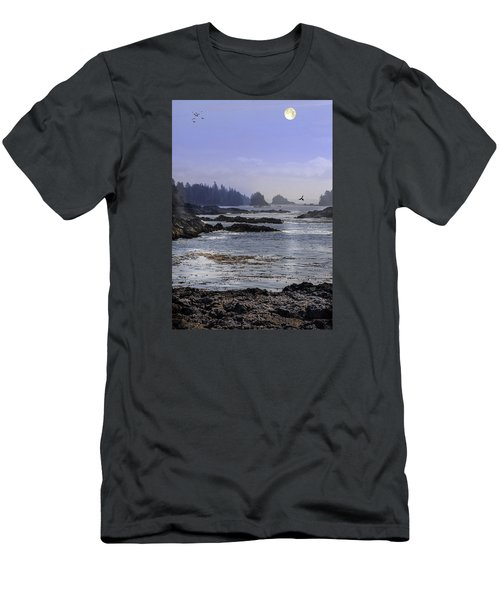 Rocks And Moon And Water Men's T-Shirt (Athletic Fit)