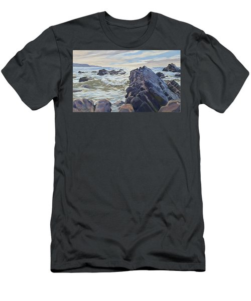 Rocks At Widemouth Bay, Cornwall Men's T-Shirt (Athletic Fit)