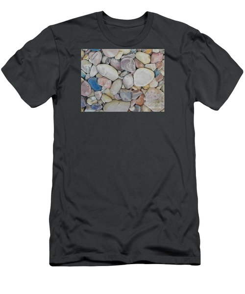 Beach Rocks, Mexico Men's T-Shirt (Athletic Fit)