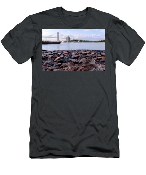Rocks River And A Bridge In Savannah Georgia Men's T-Shirt (Athletic Fit)