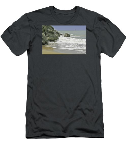Rocks, Sand And Surf Men's T-Shirt (Athletic Fit)