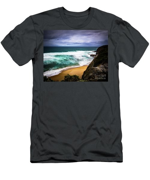 Men's T-Shirt (Slim Fit) featuring the photograph Rocky Coast by Perry Webster
