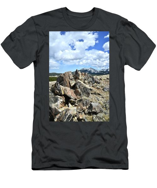 Rocky Crest At Big Horn Pass Men's T-Shirt (Athletic Fit)
