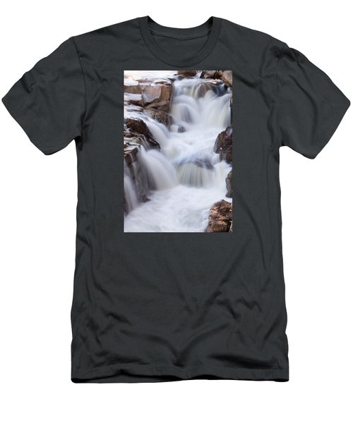 Rocky Gorge Falls Men's T-Shirt (Slim Fit) by Michael Hubley