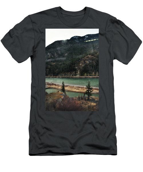 Rocky Mountain Foothills Montana Men's T-Shirt (Slim Fit) by Kyle Hanson