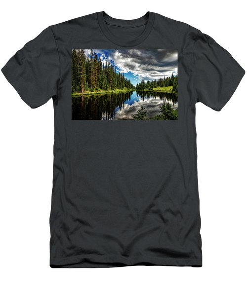 Rocky Mountain Lake Irene Men's T-Shirt (Athletic Fit)