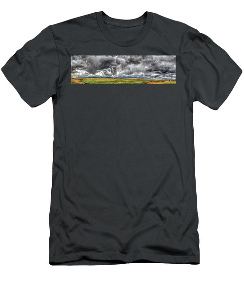 Rocky Mountain Panorama Hdr Men's T-Shirt (Athletic Fit)