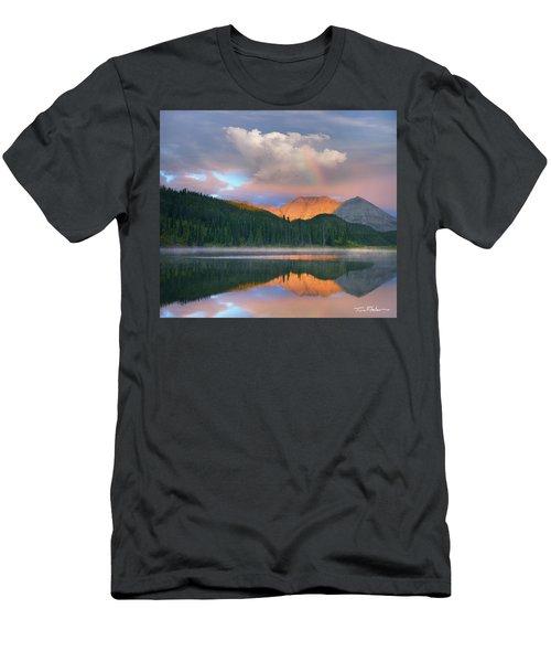 Rocky Mountain Men's T-Shirt (Slim Fit) by Tim Fitzharris