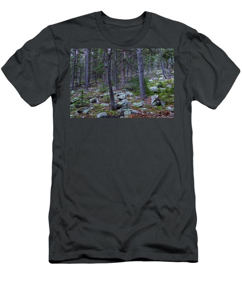 Men's T-Shirt (Athletic Fit) featuring the photograph Rocky Nature Landscape by James BO Insogna