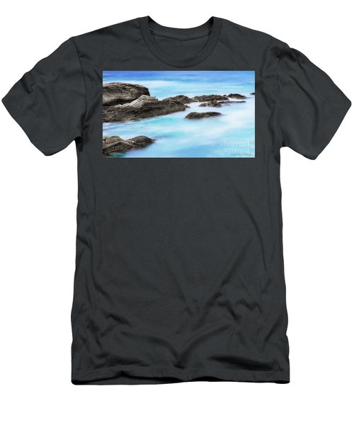Men's T-Shirt (Slim Fit) featuring the photograph Rocky Ocean by John A Rodriguez