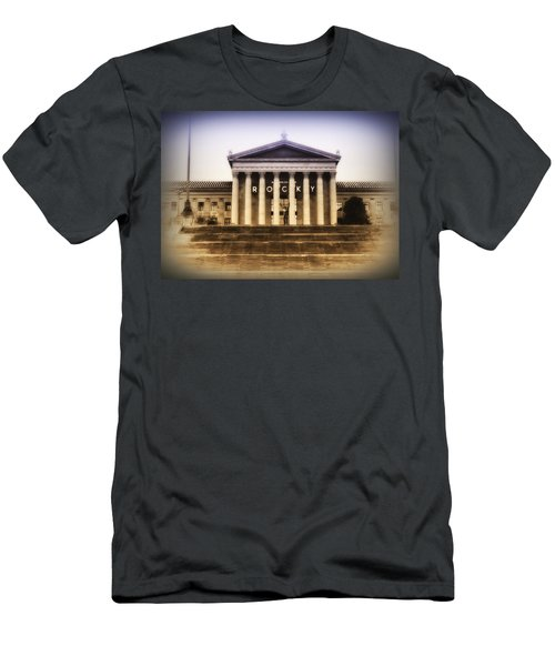 Rocky On The Art Museum Steps Men's T-Shirt (Athletic Fit)
