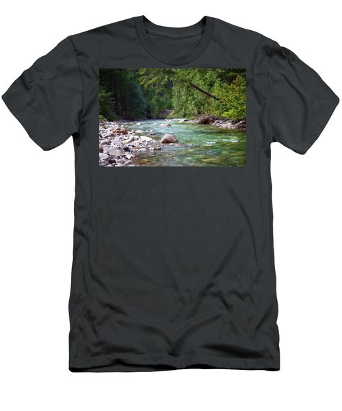 Rocky Waters In The North Cascades Landscape Photography By Omas Men's T-Shirt (Athletic Fit)