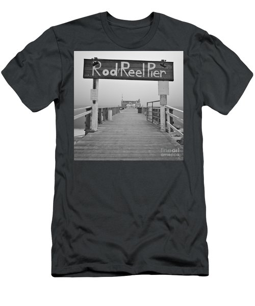 Rod And Reel Pier In Fog In Infrared 53 Men's T-Shirt (Athletic Fit)
