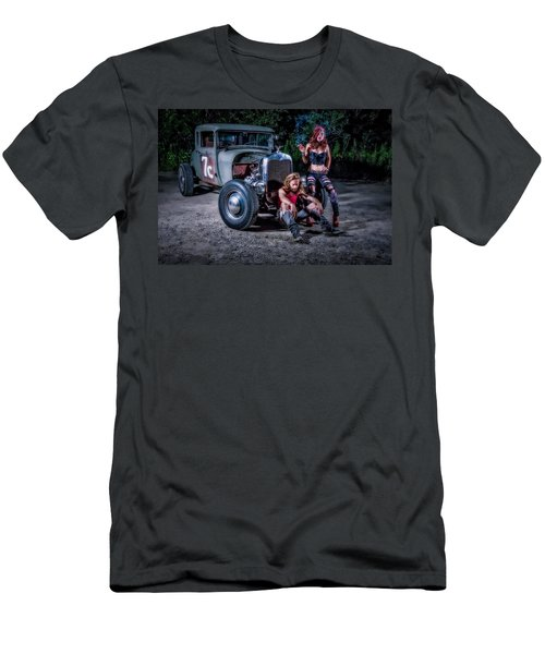 Rodders #2 Men's T-Shirt (Slim Fit) by Jerry Golab