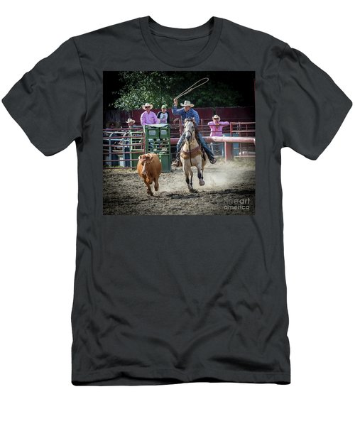 Cowboy In Action#1 Men's T-Shirt (Athletic Fit)