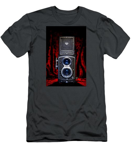 Men's T-Shirt (Slim Fit) featuring the photograph Rollei by Keith Hawley