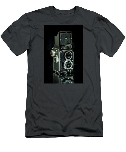 Men's T-Shirt (Slim Fit) featuring the photograph Rollei Twin Lense by Keith Hawley