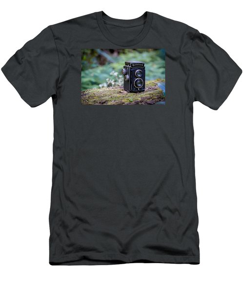 Men's T-Shirt (Slim Fit) featuring the photograph Rolleicord Tlr by Keith Hawley