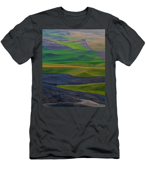 Rolling Fields Of The Palouse Men's T-Shirt (Slim Fit) by James Hammond
