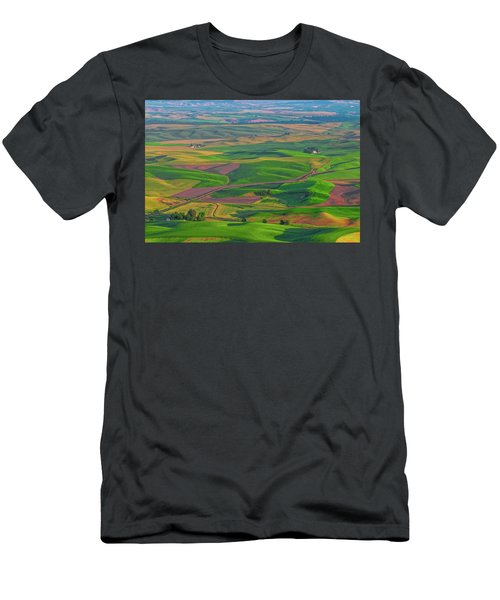 Rolling Green Hills Of The Palouse Men's T-Shirt (Slim Fit) by James Hammond