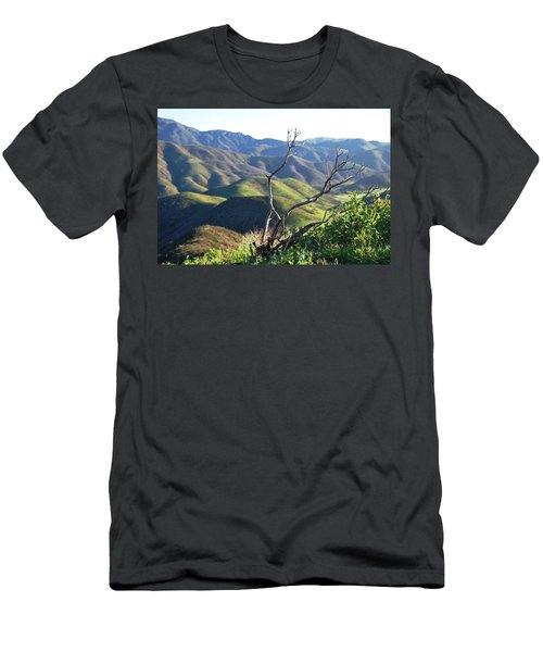 Men's T-Shirt (Athletic Fit) featuring the photograph Rolling Green Hills With Dead Branches by Matt Harang
