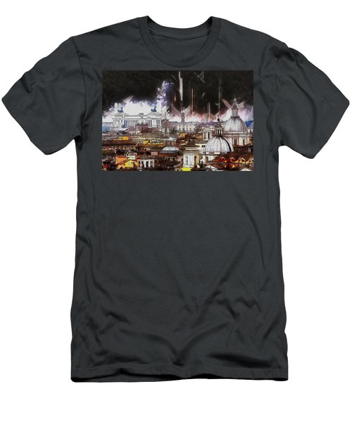 Men's T-Shirt (Slim Fit) featuring the painting Roma Aeterna by Kai Saarto