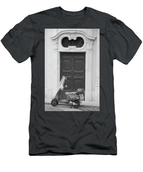 Roma Vespa And Door  Men's T-Shirt (Athletic Fit)