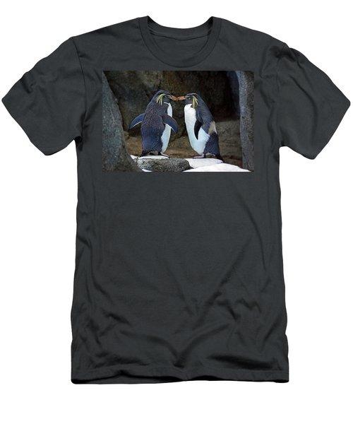 Romantic Rockhoppers Men's T-Shirt (Slim Fit) by Inge Riis McDonald