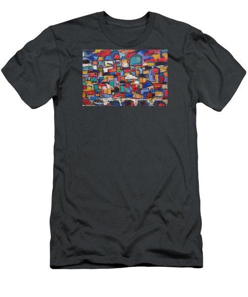 Rome, Bridge Of Angels Men's T-Shirt (Athletic Fit)