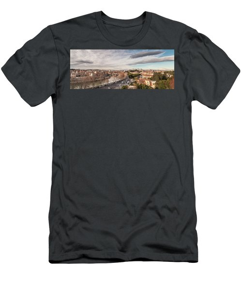 Rome - Panorama  Men's T-Shirt (Slim Fit) by Sergey Simanovsky