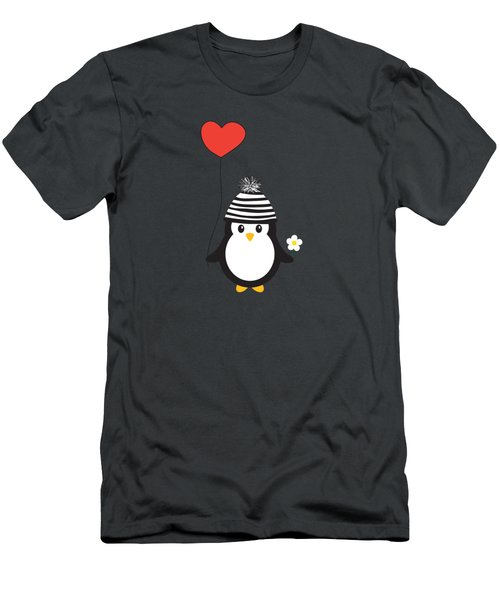 Romeo The Penguin Men's T-Shirt (Athletic Fit)
