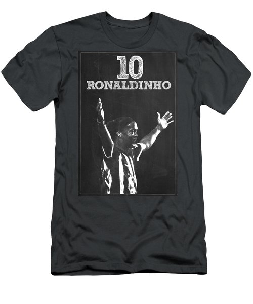 Ronaldinho Men's T-Shirt (Slim Fit) by Semih Yurdabak