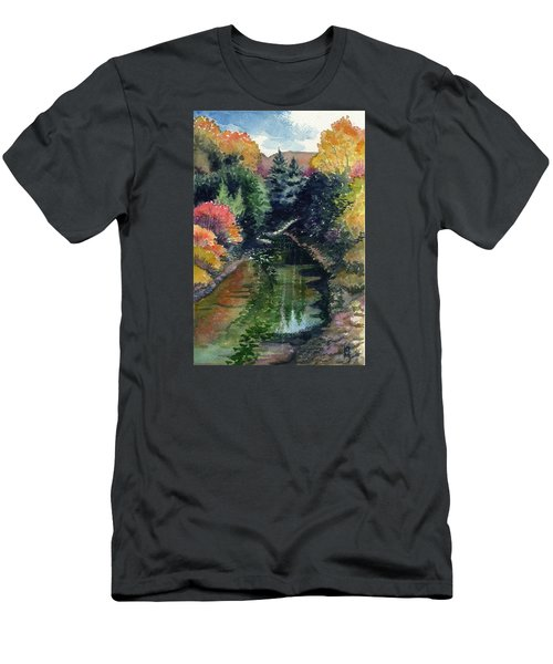 Men's T-Shirt (Slim Fit) featuring the painting Ronceverte, Wv by Katherine Miller