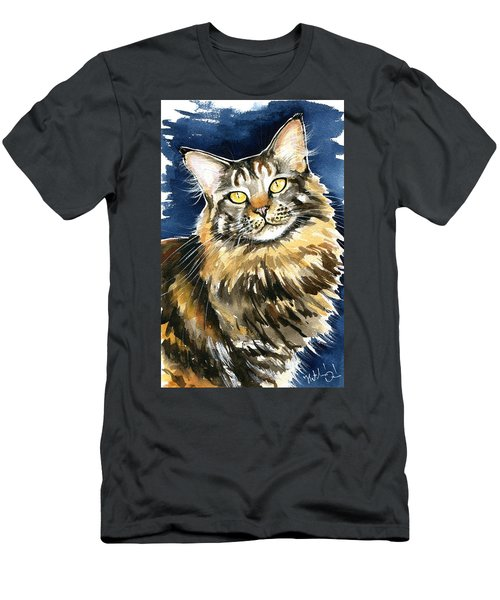 Ronja - Maine Coon Cat Painting Men's T-Shirt (Athletic Fit)