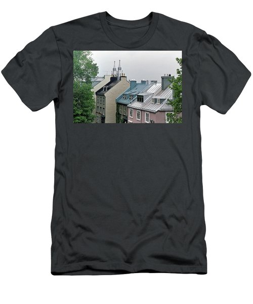 Men's T-Shirt (Athletic Fit) featuring the photograph Rooftops by John Schneider
