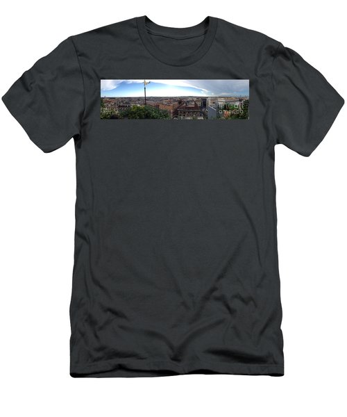 Rooftops Of Rome Men's T-Shirt (Athletic Fit)